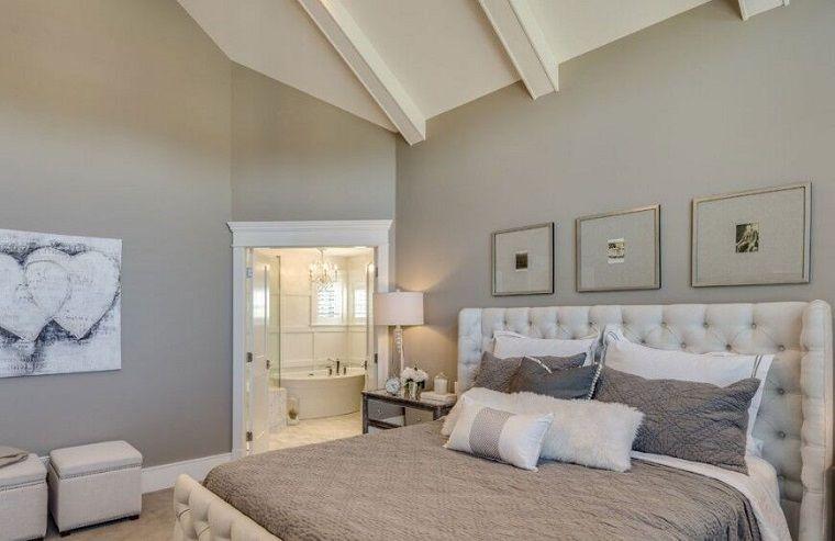 dormitorio matrimonial moderno con cama preciosa - Decoracion Dormitorio Matrimonio