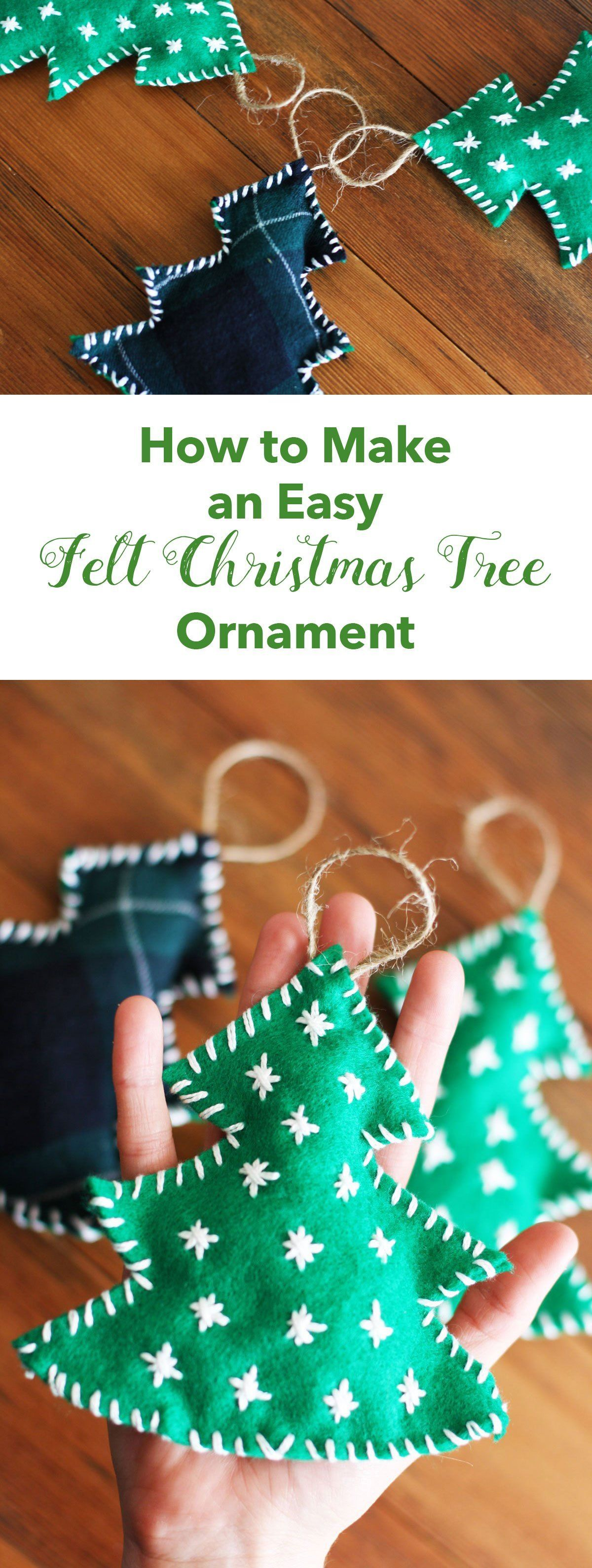How to Make an Easy Felt Christmas Tree Ornament Felt