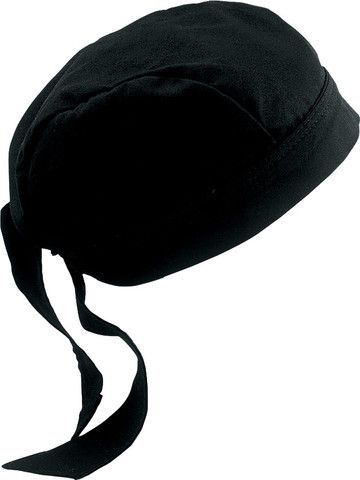 Talla única Negro Chef Works Unisex Head Wrap