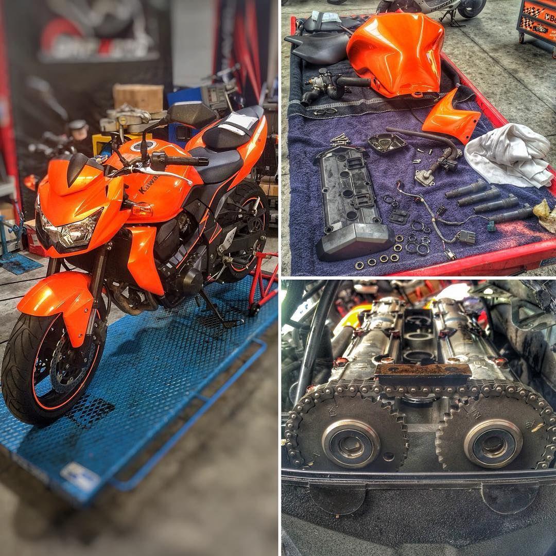 Setup Valves On Kawasaki Z750 Orange Instamoto Instabike Bikersofinstagram
