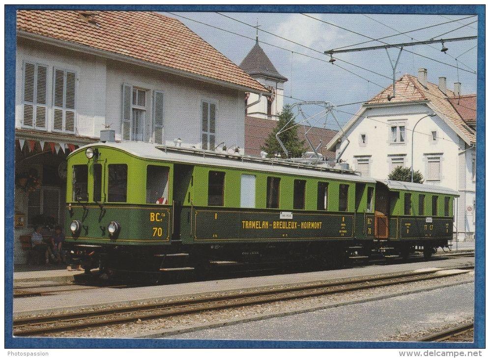 CJ Chemin De Fer Du Jura - Automotrice électrique BCe 2/4 N° 70 à Saignelégier, 16.8.1984 - Bahn - Railway - Train - Trains   Switzerland  #railway #postcard #train #bahn #ferrovia #ansichtskarten #cartoline #cartepostale #locomotive #lokomotive