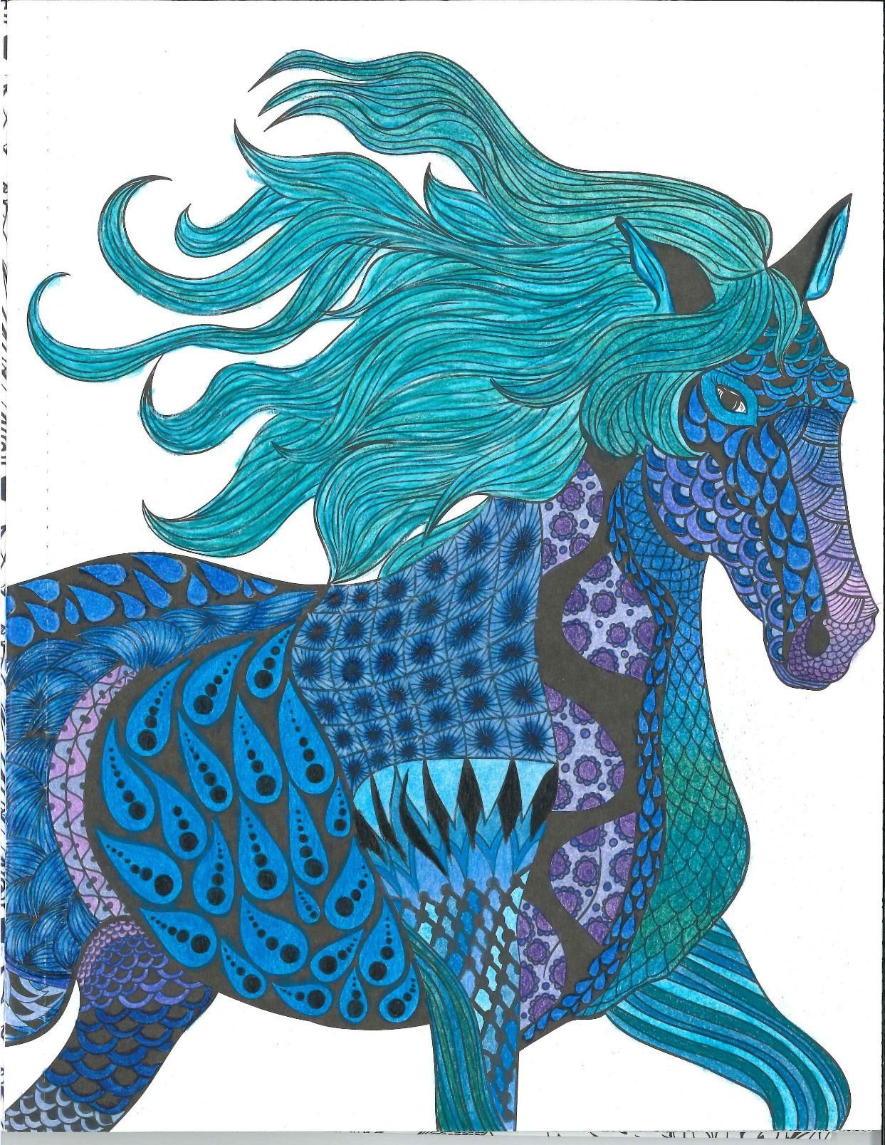 Robot Check Colorful Art Coloring Book Art Horse Coloring Books