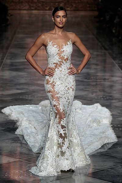 irina shayk closes pronovias in sensational wedding dress | dresses