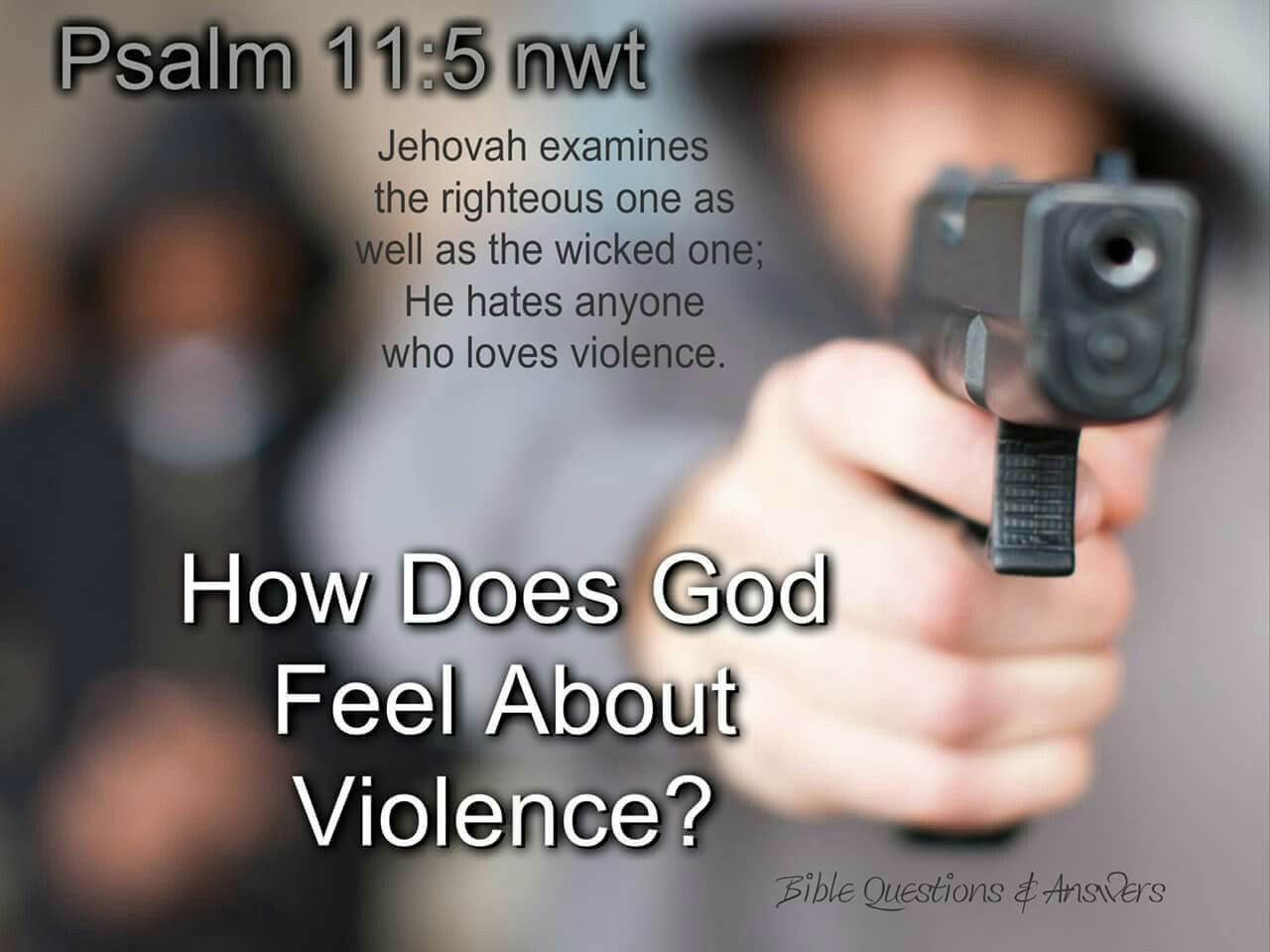 what does god say about violence