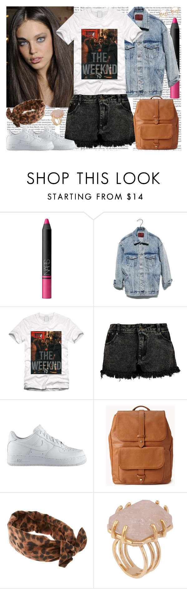 """This the shit that I live for, with the people I'd die for."" by mariaalovett ❤ liked on Polyvore featuring NARS Cosmetics, Trilogy, Boohoo, NIKE, Forever 21, River Island and Kelly Wearstler"