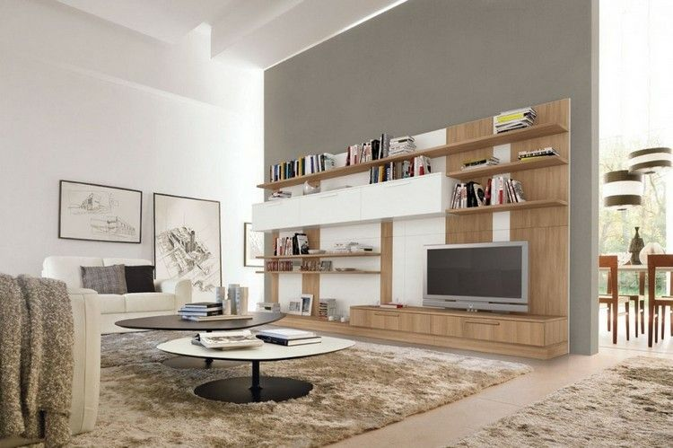 Estanterias modulares para salones modernos - 38 ideas | Estanterías ...