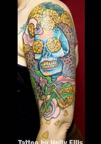 She Requested A Skull With Traditional Day Of The Dead