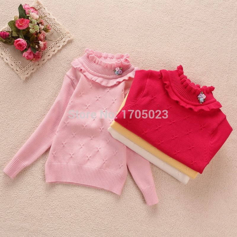 2015 Spring baby girl sweater basic shirt sweater 100% turtleneck cotton sweater - http://www.aliexpress.com/item/2015-Spring-baby-girl-sweater-basic-shirt-sweater-100-turtleneck-cotton-sweater/32280861349.html
