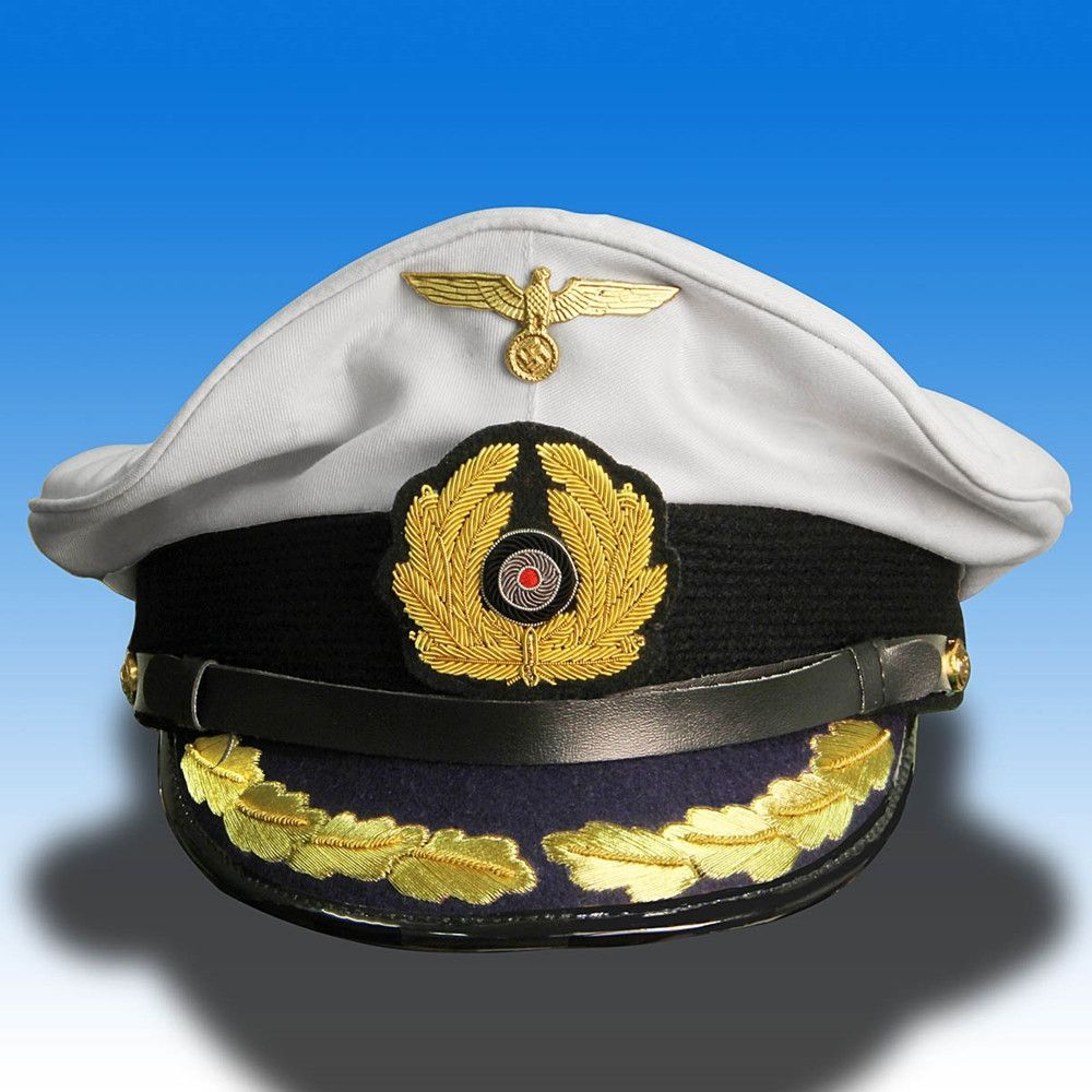 2aded17d German WWII Reproduction Kriegsmarine U-Boat Captain Cap | Products ...