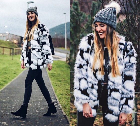 Get this look: http://lb.nu/look/8563697  More looks by Marta M: http://lb.nu/user/169991-Marta-M  Items in this look:  Romwe Fur Coat, Primark Beanie   #casual #chic #street