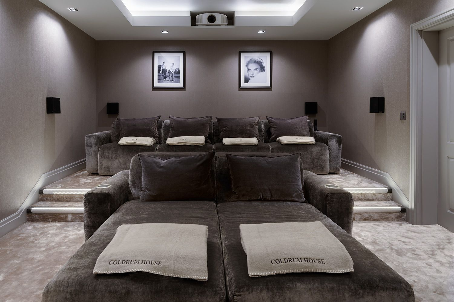 Luxury Home Theatre With Some Rather Special Home Cinema Seating All These Seats Are Recliner Seats In 2020 Home Cinema Room Home Cinema Seating Home Theater Seating