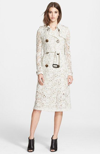 7818556061 Burberry Prorsum Floral Macramé Unlined Trench Coat available at  #Nordstrom... Stunning!