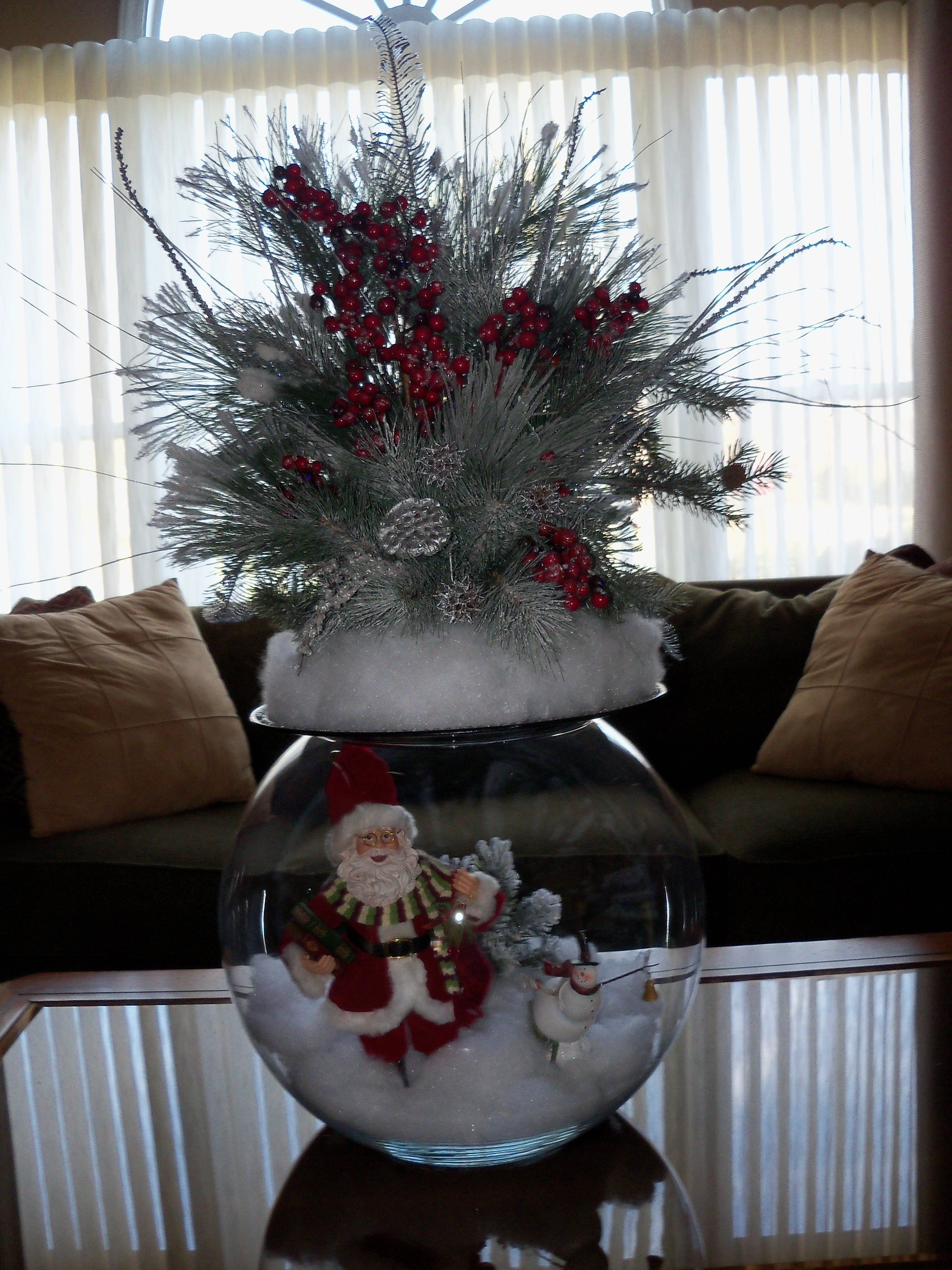 Christmas Arrangement Arrangements Pinterest Navidad  ~ Bolas Para Decorar Centros De Mesa