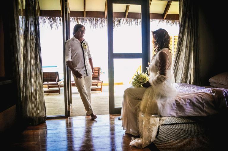 Chitãozinho e Márcia: juras de amor nas Maldivas