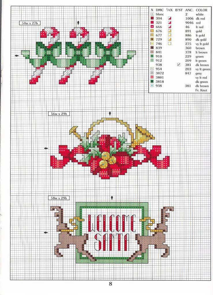Patrones navideños para punto de cruz | Cross Stitch: Winter ...
