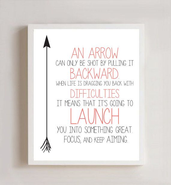Arrow Quotes Arrow Definition 8X10 Printthecrookednook1 On Etsy $10.00 .