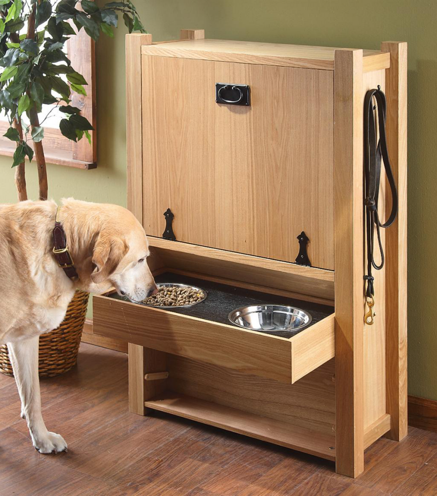 storage furniture, feeders and toy organizing solutions for pet
