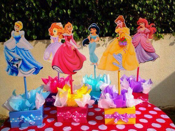 Centros De Mesa Disney Princess Theme Party Disney Princess Birthday Party Princess Theme Party