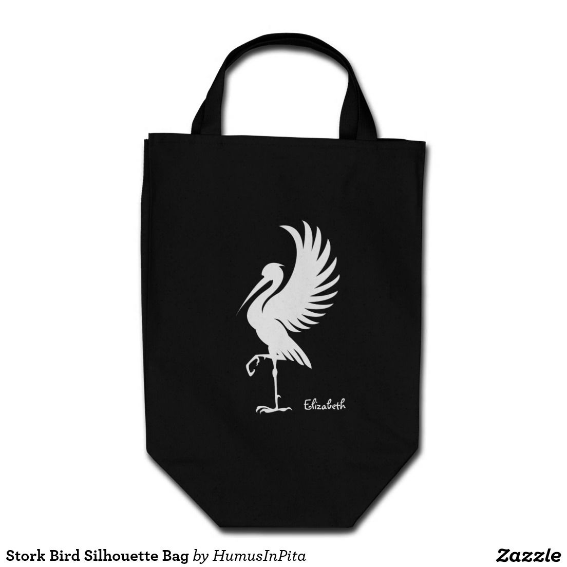 Stork Bird Silhouette Bag
