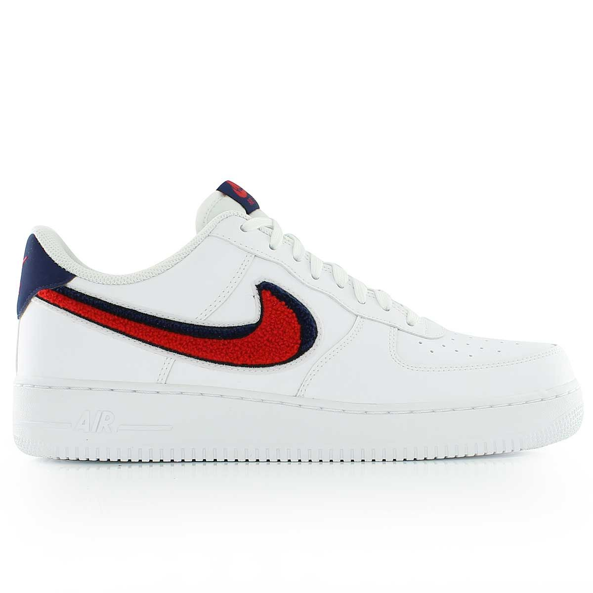 Nike Air Force 1 07 Lv8 White University Red Blue Void Zapatos Ropa Tumblr Beis