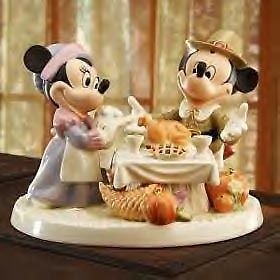 LENOX A DAY OF THANKSGIVING Mickey NEW in BOX w/COA Minnie Mouse