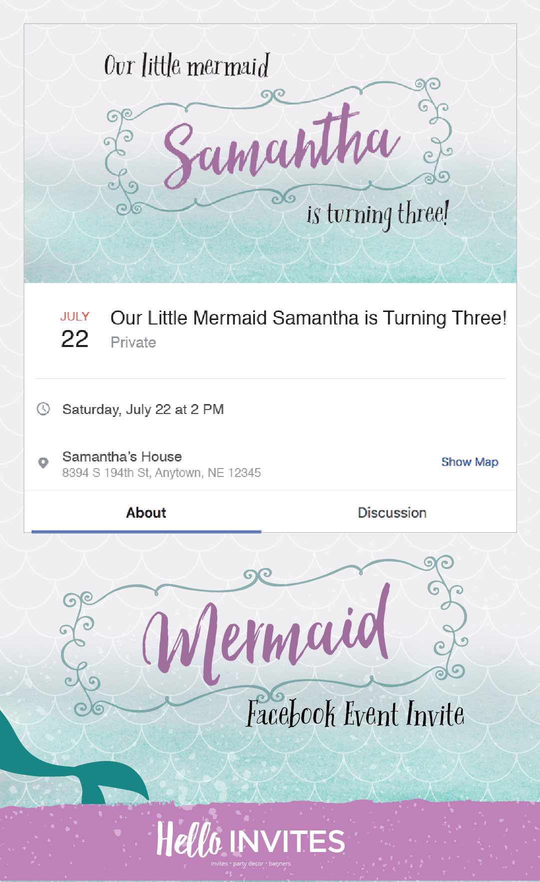 mermaid birthday facebook event