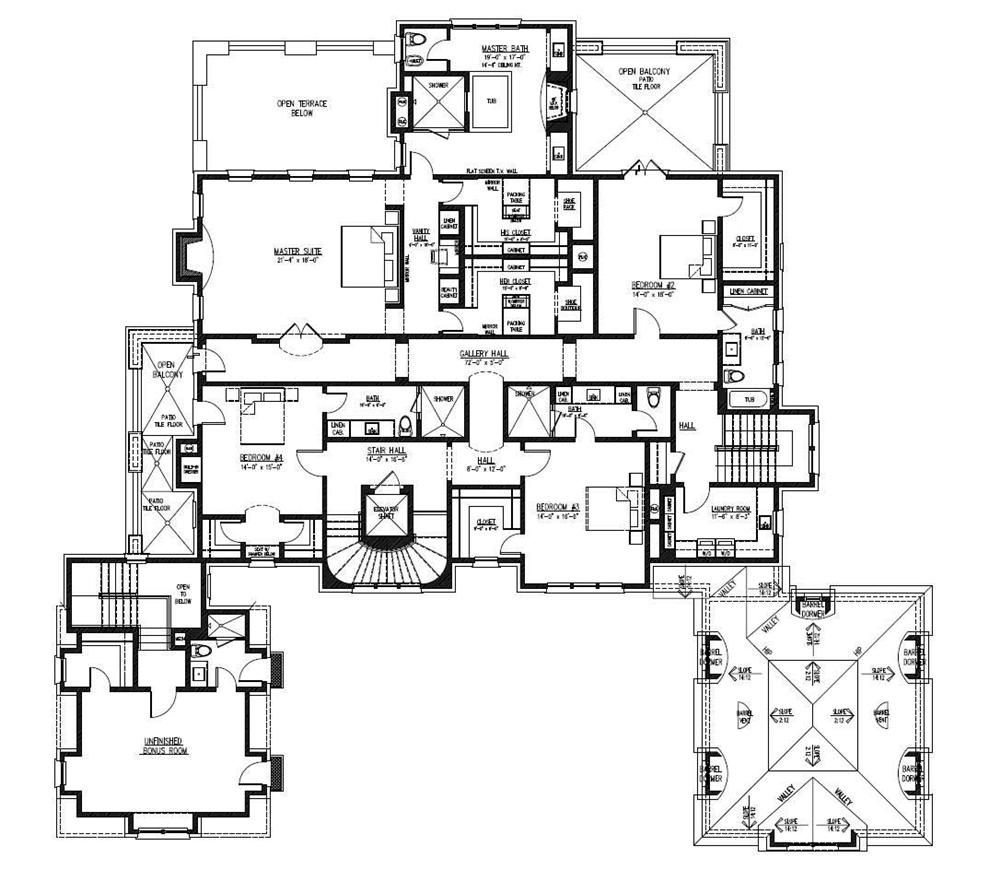 1521009 Floor Plan Second Story House plans, Luxury