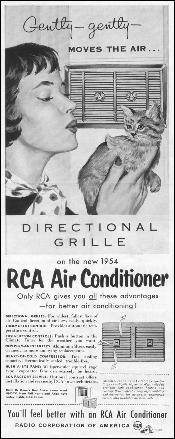 RCA air conditioner ad (1954) (With images) Vintage ads