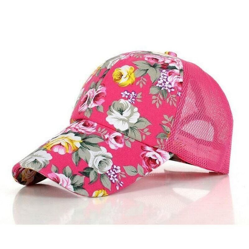 a95a6b25f Country Flower Adjustable Mesh Hat in 2019 | Country Style Hats ...