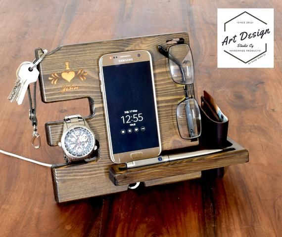 Christmas Gift, Present for him, Husband gift, wooden phone stand