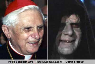 Pope Benedict Xvi Totally Looks Like Darth Sidious From Star Wars