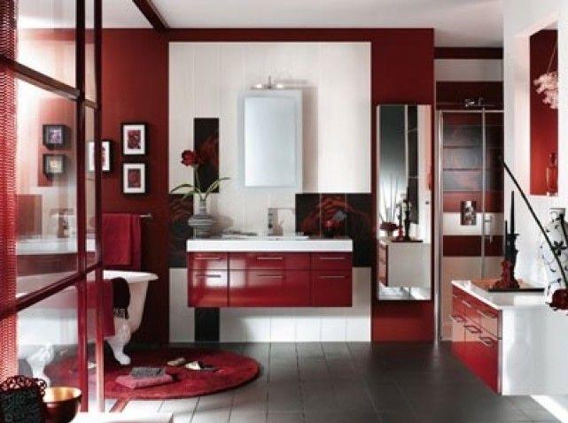 1000 ideas about salle de bain rouge on pinterest salle de bains bath and salle de bain - Decoration Salle De Bain Rouge