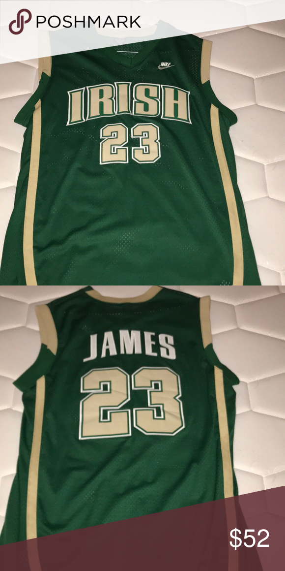 quality design 92fea 1cf21 LeBron James St. Vincent St. Mary HS jersey Jersey is ...