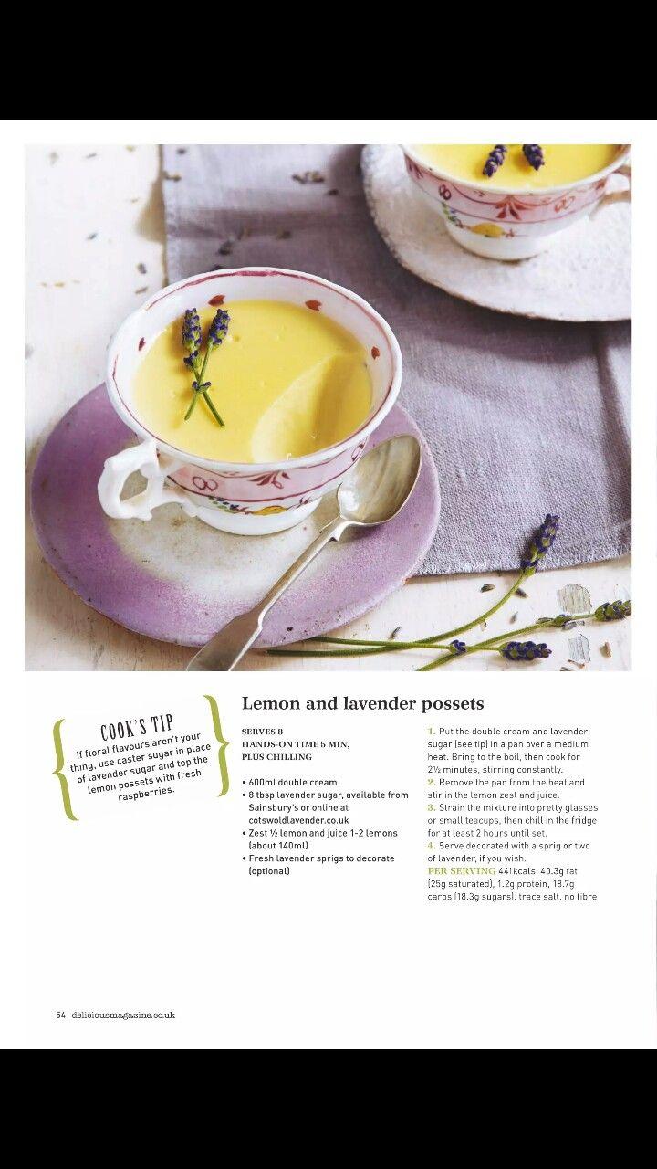 lemon and lavender posset