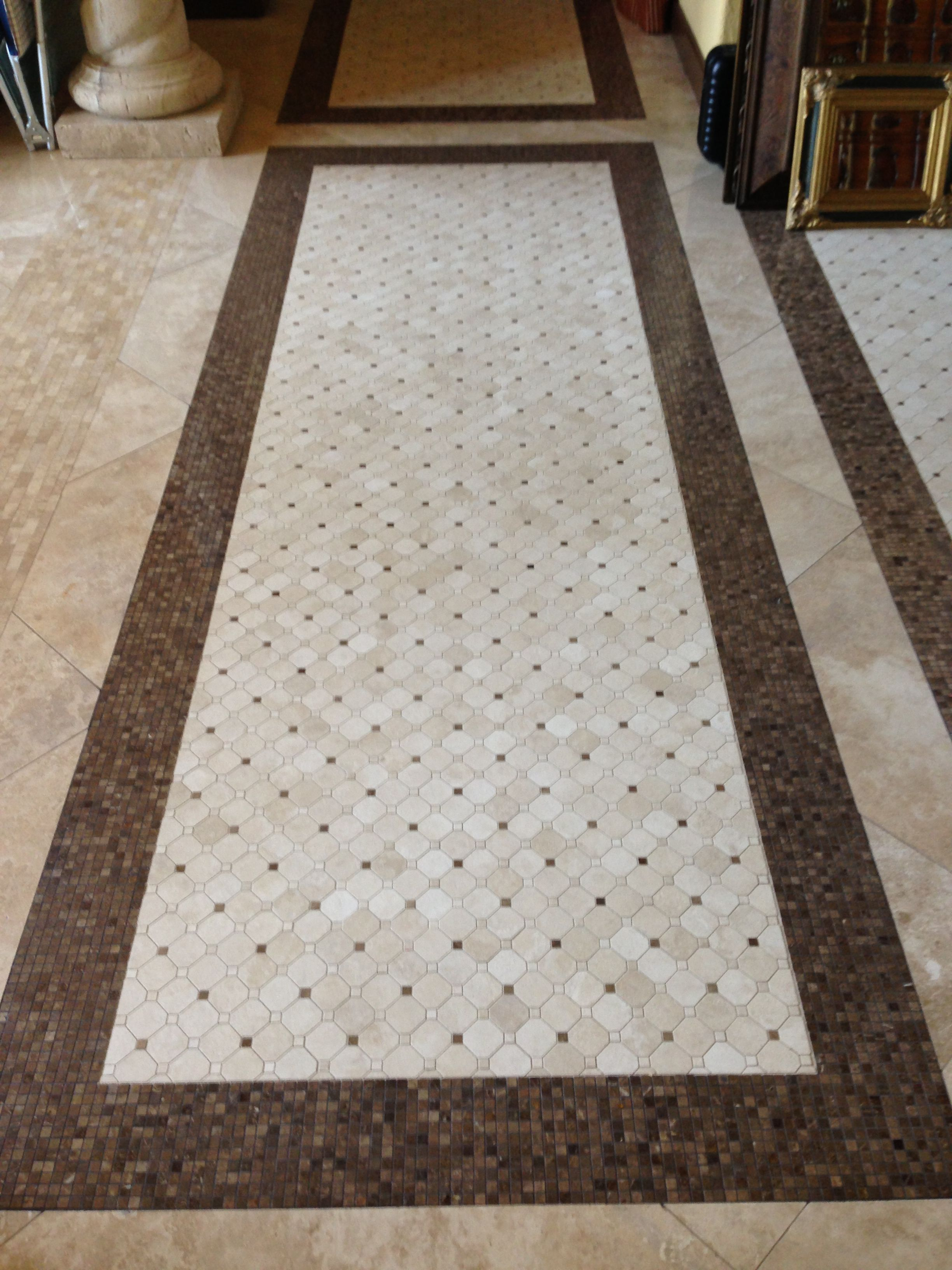 Hand laid mosaic rug work by baker flooring design tile work by baker flooring design tile custom dailygadgetfo Images