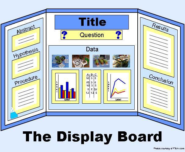 tri fold project display