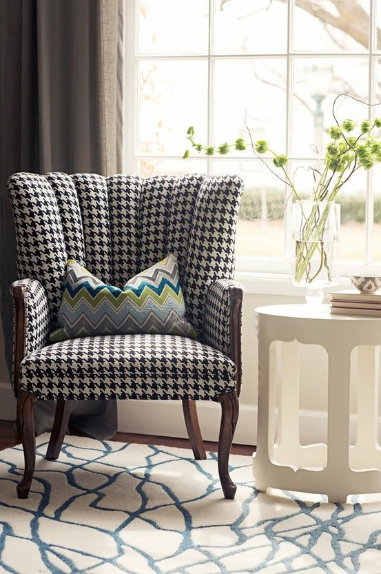 Houndstooth Chair Home Decor Furniture Interior