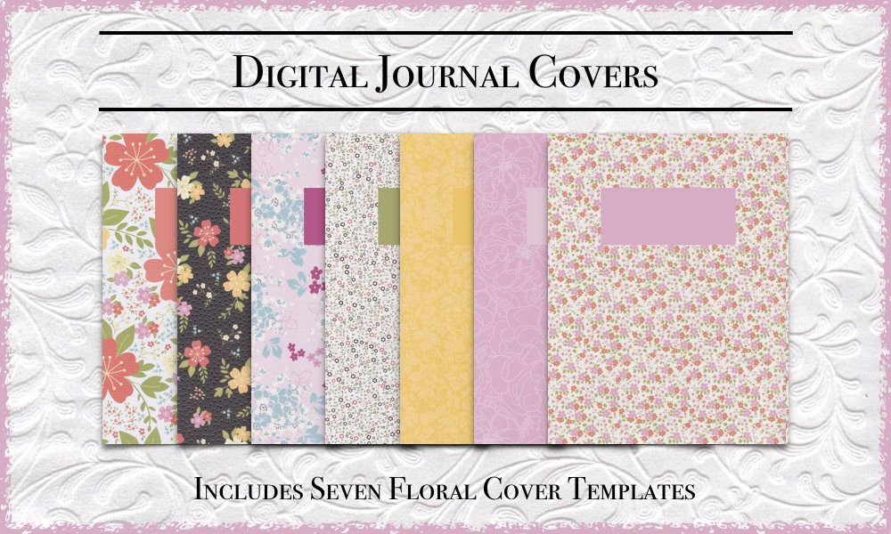 GoodNotes Journal Cover Templates DigiBujo Covers Printable PDF