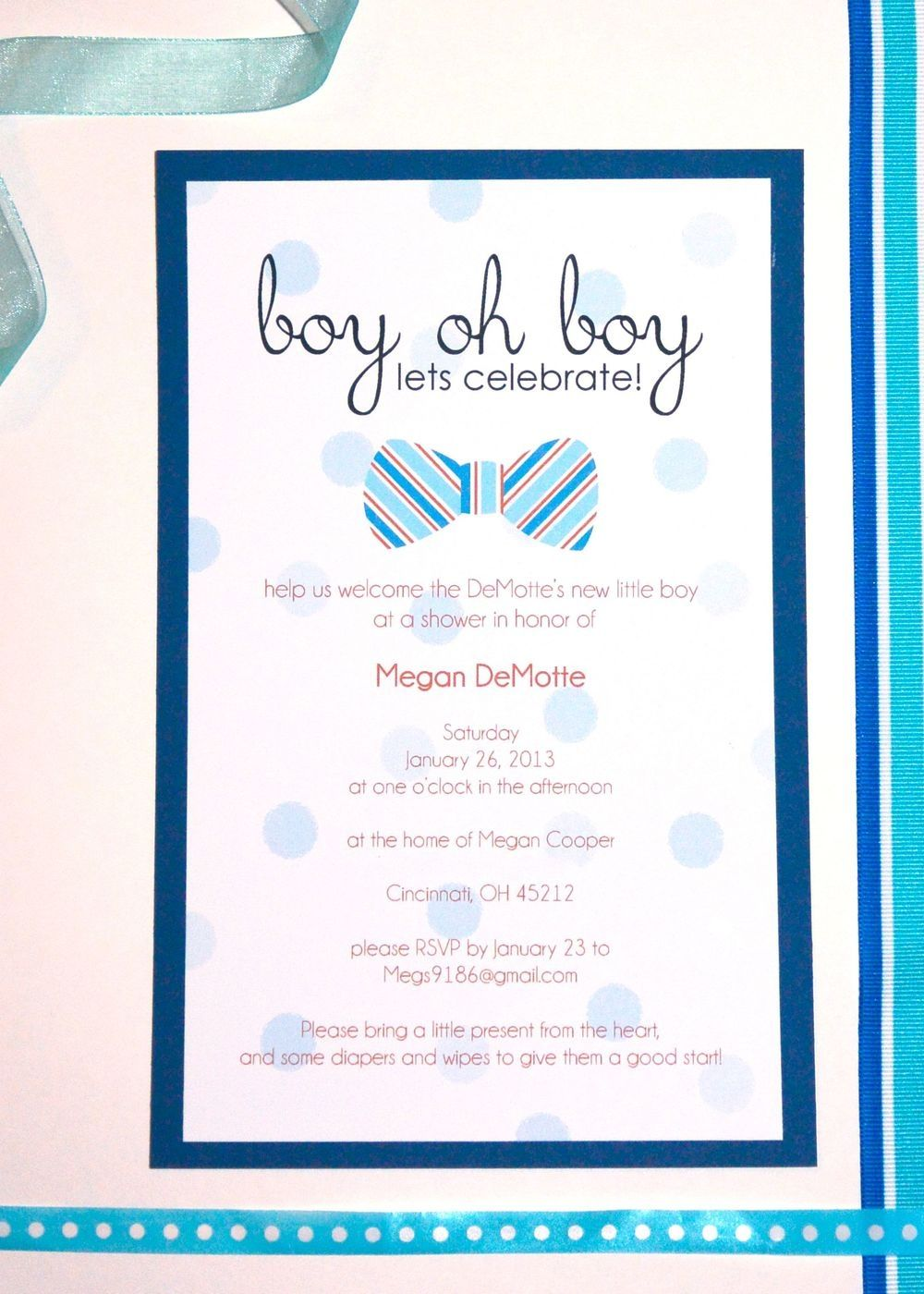 Work Baby Shower Email Invitations
