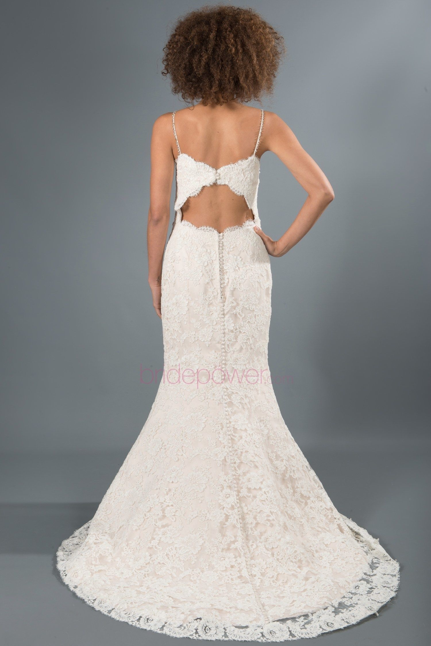 Wedding dress consignment shops near me  Elegant mermaid style gown with a beaded strap and keyhole back