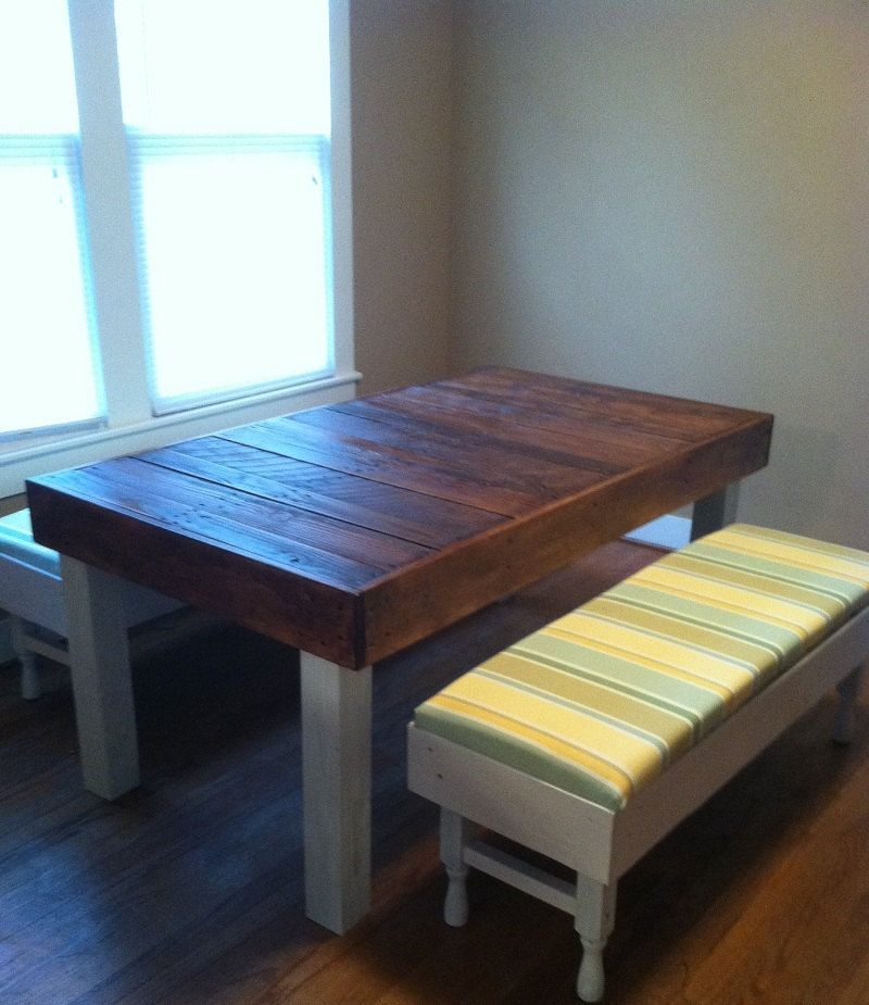 Reclaimed Pallet Wood Dining Table, Upcycled, Louisiana ...