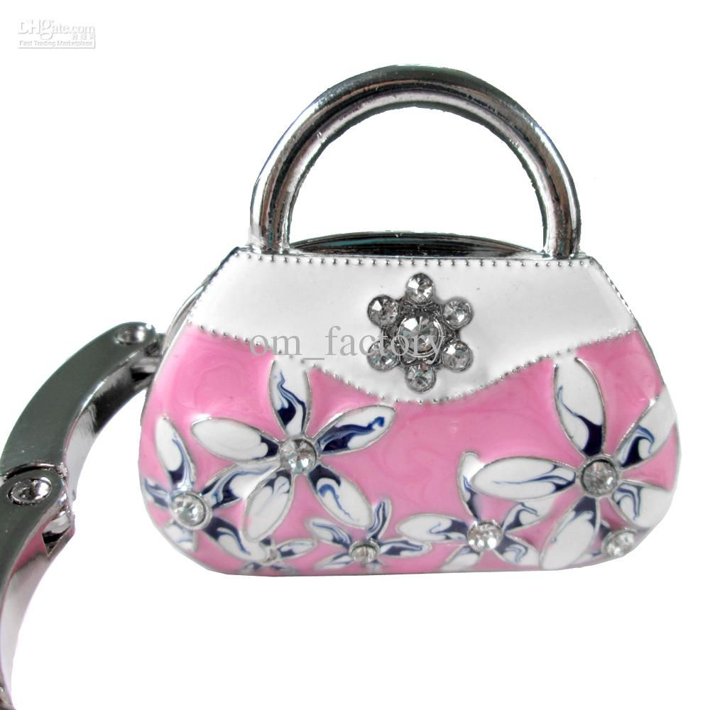 Purse Hangers Whole Hook Hanger Handbag Table Folding Holder