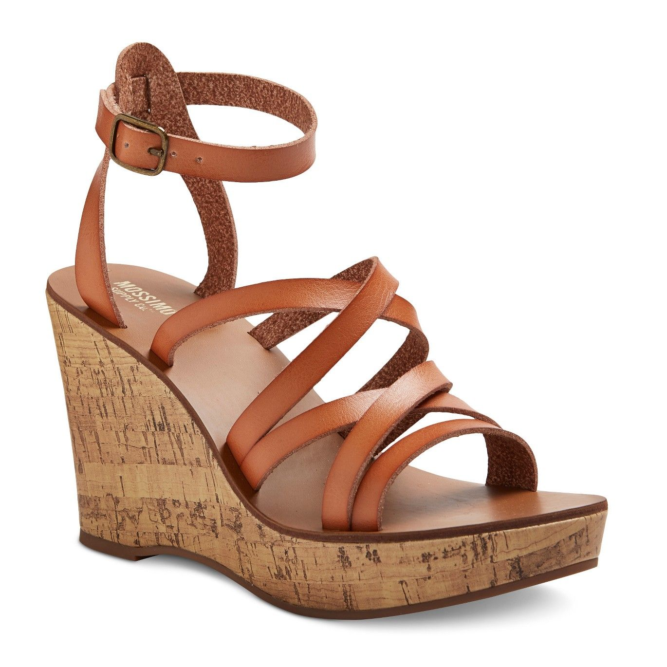 83b74bdd1848 Women s Reese Quarter Straps Cork Wedge Sandals Mossimo Supply Co.™   Target