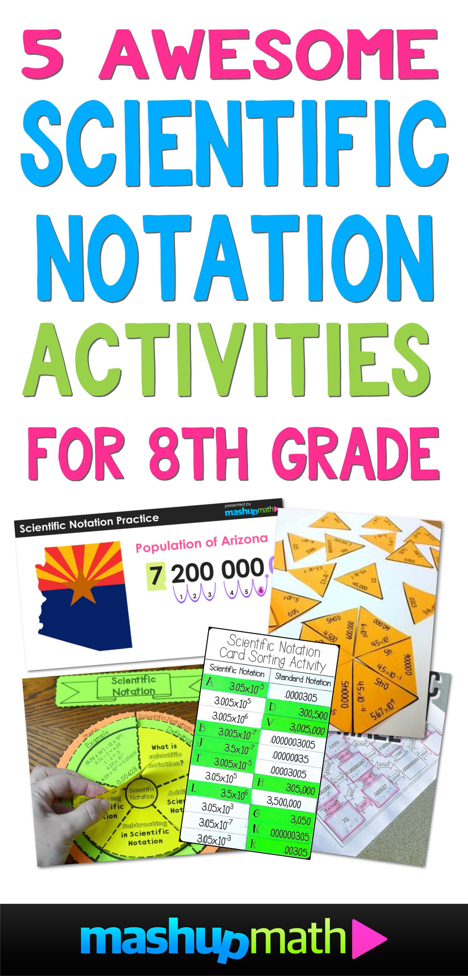 5 Awesome 8th Grade Scientific Notation Activities