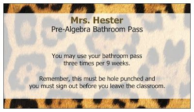Using free business cards from vistaprint as bathroom passes via mrs using free business cards from vistaprint as bathroom passes via mrs hesters classroom vistaprint reheart Image collections