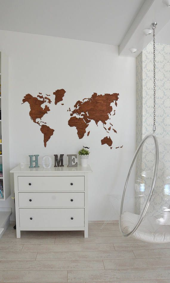 Home Wall Art Wooden World Map Large Map Of The World Travel Office - World map for office wall