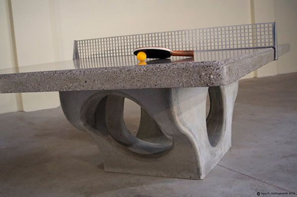 Cool Concrete Outdoor Ping Pong Table With Stainless Steel Net