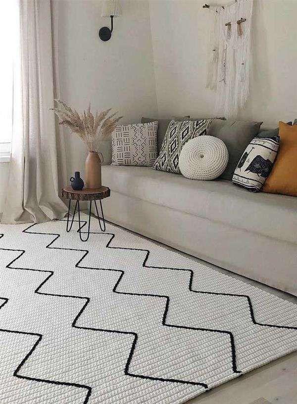 Tapetes de crochê para sala: modelos e ideias - Artesanato Passo a Passo!