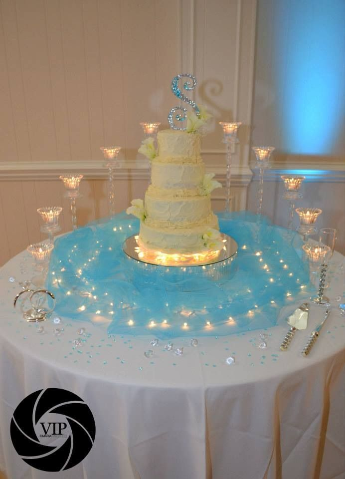 My Sisters Wedding Cake Table With And Set Up Done By Me