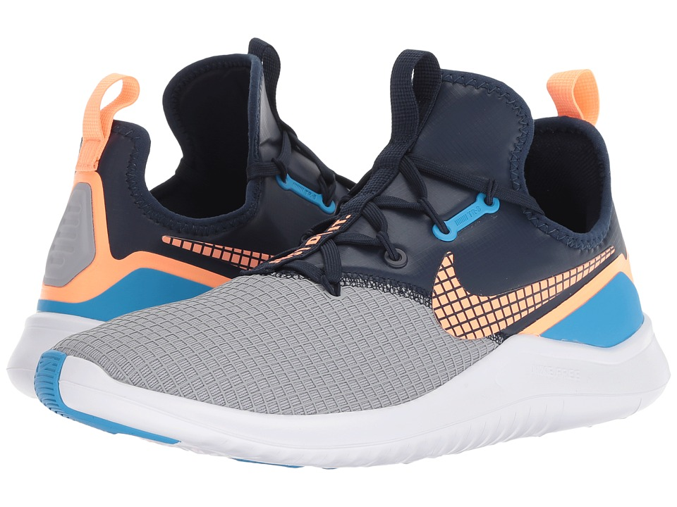 huge discount 2af22 33459 Nike Free TR 8 Neo Women s Cross Training Shoes Wolf Grey Orange Pulse Blue  Glow